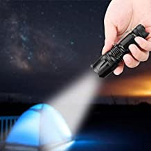 mooderff LED Flashlight LED Torch, Water-Resistant, Rechargeable, Professional Ultra-Bright 500 Lumens, 3 Light Modes, 14500 Battery Included (Renewed)