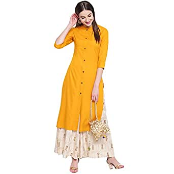 Khushal K Women's Rayon Straight Salwar Suit Set
