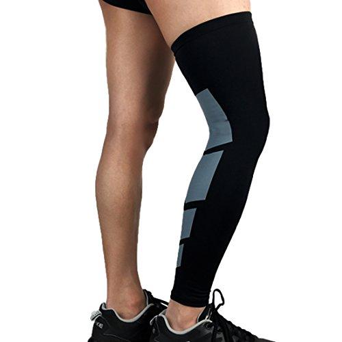 Dünn Supportive Slip-Proof Knieschützer Knieschützer Knie-Sleeve Für Gelenkschutz Injury Recovery Gewichtheben Laufen Basketball Athlet Schwarz L=US M (2 Stück Nike Slip)