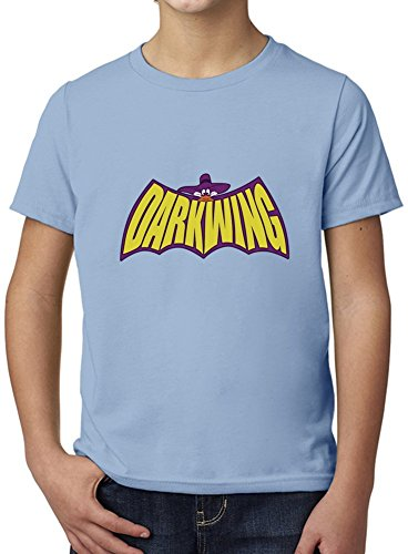 The Duck Knight Darkwing Ultimate Youth Fashion T-Shirt by Benito Clothing - 100% Organic, Hypoallergenic Cotton- Casual Wear- Unisex Design - Soft Material 7-8 years (Duck Cotton 100% Material)