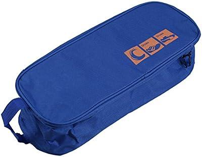 SODIAL(R) Calzado impermeable portatil Bolsa de Viaje Carry Viaje del caso del almacenaje del bolso al aire libre - Azul