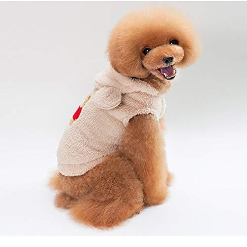 Manteau Chien Petite Taille Hiver Chaud Ours Sweat avec Capuche Veste Manteaux Chemise pour Petit/Moyen Chien Chihuahua Yorkshire Bouledogue Francais