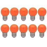 10er E27 Farbig Glühlampen Lampe Birne Beleuchtung Glühbirne Bunt Dekoration Leuchtmittel Für Partybeleuchtung Biergartenbeleuchtung(Orange)