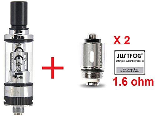 ((100% AUTENTICO)) Atomizzatore Justfog Q16 + 2 Resistenza 1.6 ohm senza tabacco, non-nicotina