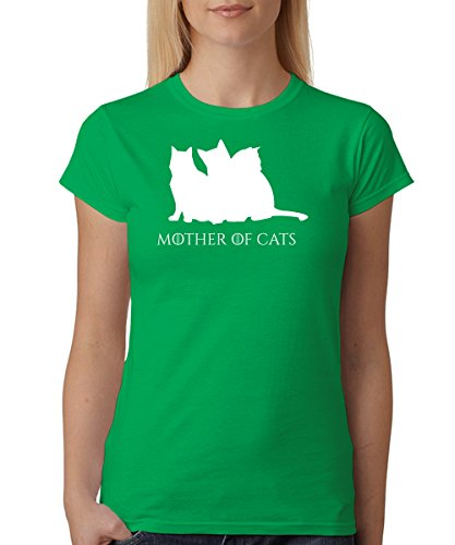 -- Mother of Cats -- Girls T-Shirt Kelly Green