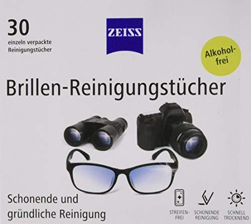 ZEISS Brillen-Reinigungstücher (3 x 30 Stück), alkoholfrei, zur schonenden & gründlichen Reinigung Ihrer Brillengläser