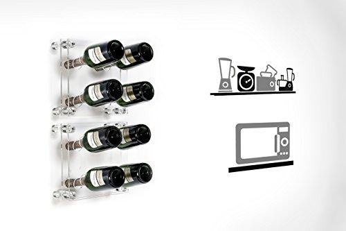 Iplex-Design-Divino-Small-Portabottiglie-da-Parete-PlexiglassPMMA-Trasparente