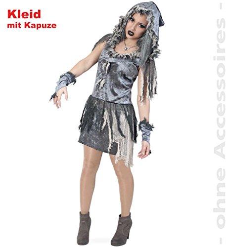 Imagen de carnaval 10667 disfraz zombie vestido de novia m, capucha halloween eysee/original tamaño 40