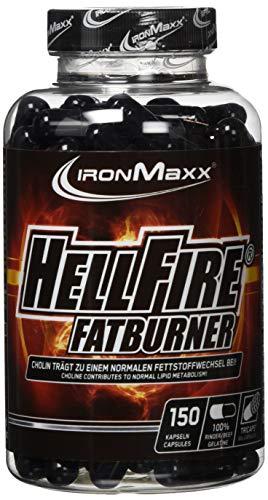 Fat Burner Diät Pille (IronMaxx Hellfire Fatburner Tricaps - Fatburner Kapseln zum Abnehmen - Hellfire Tricaps mit Thermogenetic Burn Formula - 1 x 150 Kapseln)