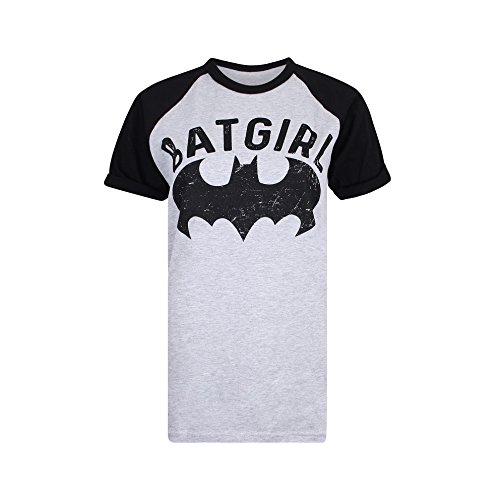 DC Comics Damen T-Shirt Stronger, Grey(Grey/Black), 40 (Dc-shirt Grau)