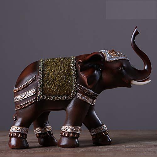 en Skulpturen Porch Einrichtungsgegenstände Thai Elephant Ornaments Glückliches Feng Shui Symbol Besonderes Resin Crafts Home Wohnzimmer Dekoration A1-98 ()