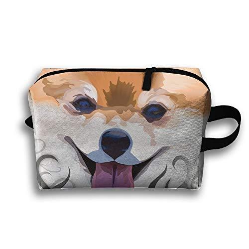 Lovely Pomeranian Funny Funny Canvas Makeup Bag Large