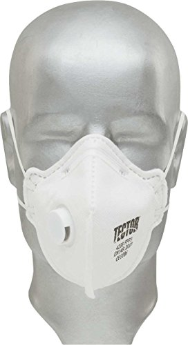 Tector FFP3 Feinstaubmaske Filtrierende Halbmaske mit Ventil - Box 12 Stück (einzeln verpackt)