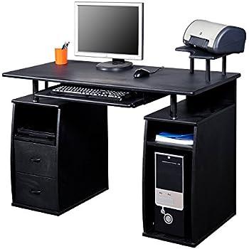 Computertisch gamer  Homcom® Computertisch Schreibtisch Bürotisch mit Druckerablage PC ...
