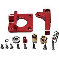 Repuesto para impresora 3D, extrusor MK8, extrusor de bloque de aluminio, extrusor Bowden de 1,75 mm, extrusión de recambio para CR10/CR-10/CR-10S DIY (rojo)