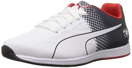 Puma BMW MS evoSPEED Lace Jr Sneaker (Big Kid), Team Blue White, 6.5 M US Big Kid