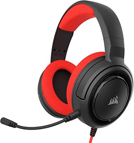 Corsair HS35 Stereo Cuffie Gaming con Microfono Unidirezionale Rimovibile, Altoparlanti in Neodimio da 50 mm, Compatibili con PC, Xbox One, PS4, Nintendo Switch e dispositivi Mobile, Rosso - Confronta prezzi