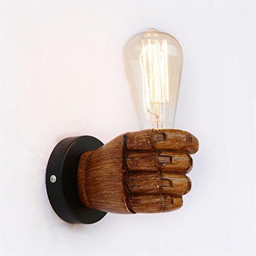 DENGPAOX Industrieller Wind Faust Einfachheit 1 Licht Wandleuchte Aged Steel Fertig (Fertig Glühlampe Wandleuchte)