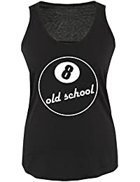 8 BALL OLD SCHOOL - Damen Frauen Tank Top Gr. S bis XL Diverse Farben