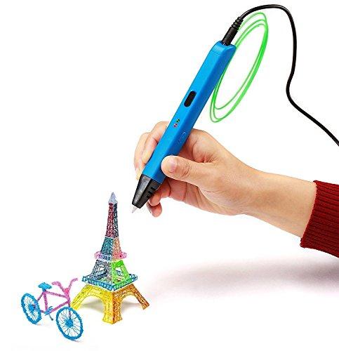 NexGadget Penna 3D Intelligente 3D Penna di Stampa Compatibile con Filamento PLA/ ABS+ 3 Ricariche di Filamento 1.75 mm
