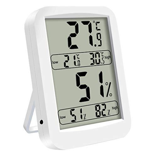 Dchaochao 4,5-Zoll-Digital-Thermo-Hygrometer mit großem Bildschirm, Innenthermometer und Luftfeuchtigkeitsdetektor LCD-Display -10 ° C ~ 70 ° C / 14 ℉ ~ 158 70 Lcd