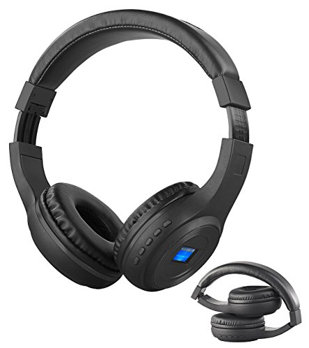 auvisio Kopfhörer mit MP3: Faltbares Over-Ear-Headset mit Bluetooth, MP3-Player, FM & LCD-Display (Kopfhörer mit MP3 Player)