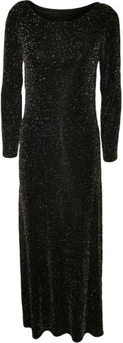 fashion-4-less-new-womens-laurex-long-sleeve-glitter-foil-print-midi-dress-ml-uk12-14-black