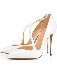 aebe14091c6 Amazon.es  Charol - 42   Zapatos para mujer   Zapatos  Zapatos y ...