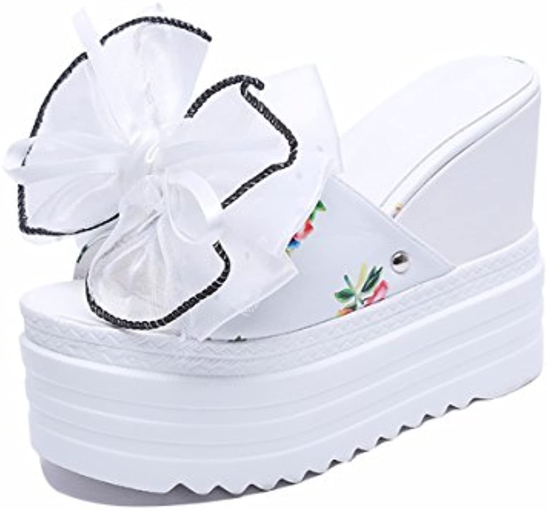 HBDLH Chaussures pour femmes/Mode/Les Pantoufles Femmes Xia Po Hei 13Cm 13Cm Hei Super Talons Hauts Noeud Papillon Mot...B07DBP4F46Parent e9c3cd
