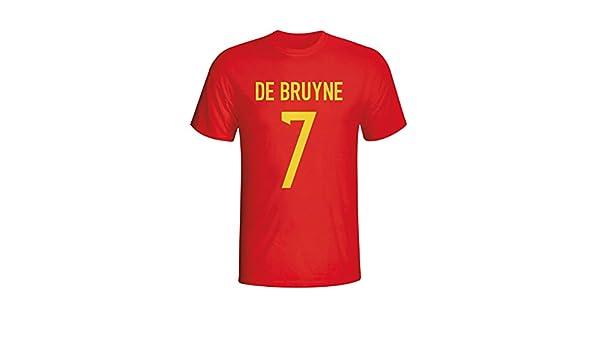 check out c5187 b788f UKSoccershop Kevin De Bruyne Belgium Hero T-shirt (red ...