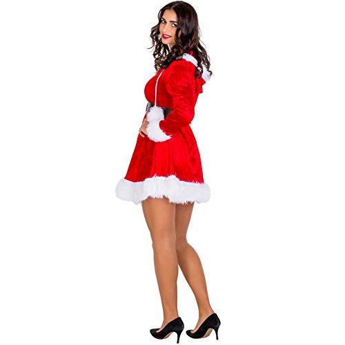 Imagen de disfraz para mujer sra. mamá noel | vestido corto con capucha & cinturón maravilloso xxl | no. 300487  alternativa