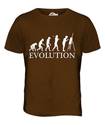 CandyMix Künstler Malerei Evolution Des Menschen Herren T Shirt Braun