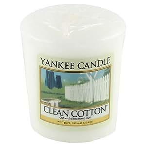 Yankee candle 1016719e bougie votive senteur coton frais for Meuble yankee candle