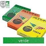 Carta in risma colorata Fabriano 500 fogli A4 80gr verde [60121297]