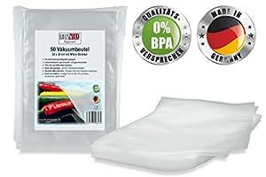 """Vakuumbeutel von HAUSWERK für Lebensmittel - """"Made in Germany"""" (50 Btl. 20x30cm – Sous-vide) Profi-Qualität für alle Folienschweißgeräte"""