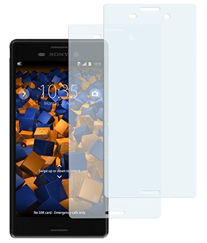mumbi Schutzfolie kompatibel mit Sony Xperia M4 Aqua Folie klar, Bildschirmschutzfolie (2x)