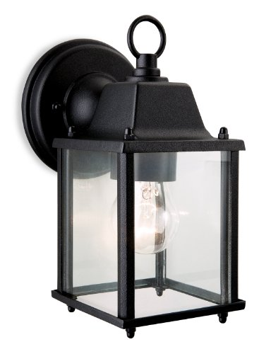 firstlight-e27-edison-screw-60-watt-coach-lantern-black