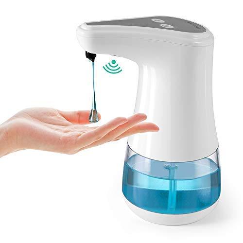esonmus automatischer Seifenspender mit Infrarotsensor, berührungslos, 360ml Flüssigseifenspender, 5-stufige Verstellbare Flüssigkeitsvolumen für Bad & Küche