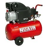 Nuair M255380 - Compresor de piston con aceite rc2-2hp rl 24 cm red