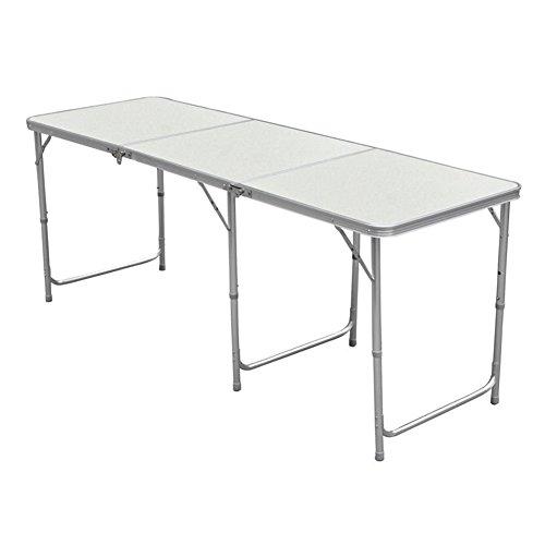 Nestling De® 4/6 m en Aluminium Portable Pliable Table Pliante Camping/Pique-Nique en extérieur 6 FT
