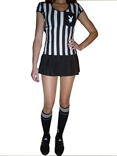 Fußballerin Schiedsrichterin, Fb.:schwarz-weiss;Kleidergr. Damen:32-36 (Kostüme Schiedsrichterin)