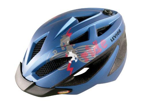 Levior Kinder Fahrradhelm Gekko, Blau-Metallic Matt, S, 45111000