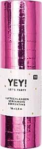 Luftschlangen Glitzerluftschlangen für Kindergeburtstag Feier oder Party Metallic Pink