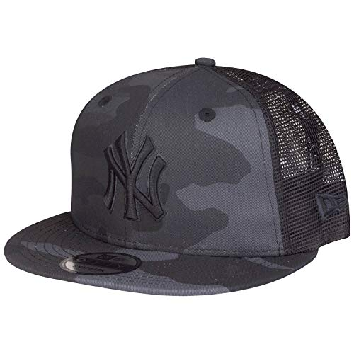 New Era LG Esntl Team 9Fifty Trucker Snapback Cap NY Yankees Camo Grau, Size:M/L