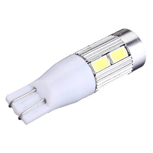T15 W16W LED Ampoule - TOOGOO(R)T15 Voiture ampoule W16W Lumiere de Freinage 8pcs 5630 LED + CREE LED 10W 500LM DC 12V (Blanc Pur 6500K)