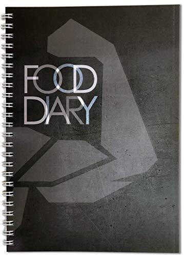 Ernährungstagebuch für Slimming World kompatibel, Ernährungsplaner, Lebensmittelprotokoll-Tagebuch, persönlicher Gewichtsverlust, Schwarz (Food Journal Tagebuch)