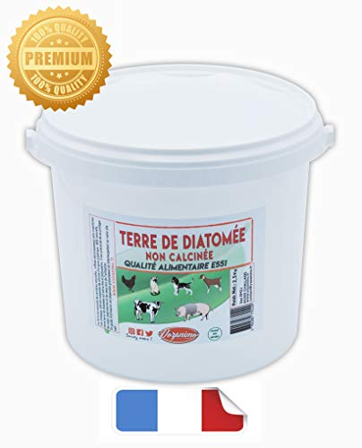 Vozanimo Terre de Diatomée Blanche 2Kg + 500g Offert Non calcinée/Alimentaire -100% Naturelle- Garantie sans additifs Idéale Contre Les puces, tiques, poux Rouges, punaises de lit, etc.