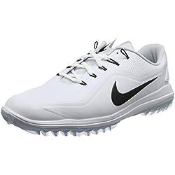 Nike Lunar Control Vapor 2, Zapatos de Golf para Hombre, Blanco (White/Pure Platinum/Volt/Black 100), 46 EU
