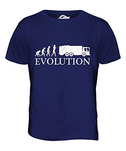CandyMix Müllwagen Evolution Des Menschen Herren T Shirt Navy Blau