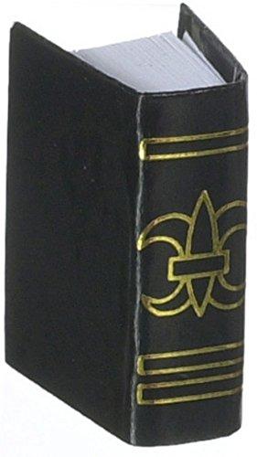 Puppenhaus schwarz BUCH Holy Bible Miniatur-Schlafzimmer Kirche Schule Zubehör 1:12